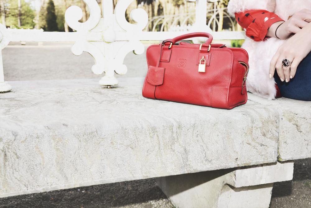 combinación rosa y rojo